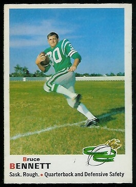 Bruce Bennett 1970 O-Pee-Chee CFL football card