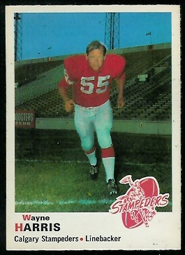 Wayne Harris 1970 O-Pee-Chee CFL football card