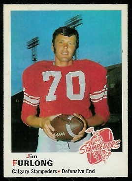 Jim Furlong 1970 O-Pee-Chee CFL football card
