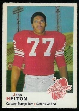 John Helton 1970 O-Pee-Chee CFL football card