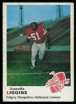Granville Liggins 1970 O-Pee-Chee CFL football card