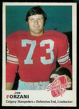 Joe Forzani 1970 O-Pee-Chee CFL football card