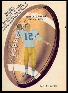 Wally Gabler 1970 O-Pee-Chee Stickers football card