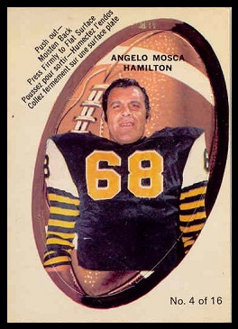 Angelo Mosca 1970 O-Pee-Chee Stickers football card