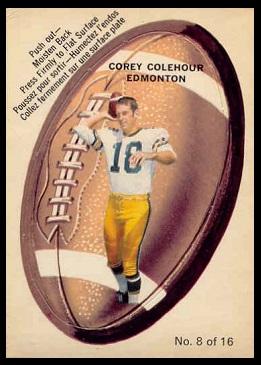 Corey Colehour 1970 O-Pee-Chee Stickers football card