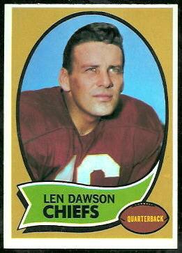 Len Dawson 1970 Topps football card