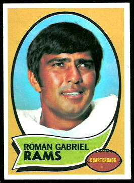 Roman Gabriel 1970 Topps football card