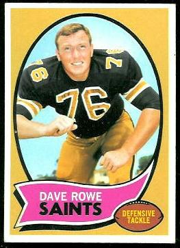 Dave Rowe 1970 Topps football card