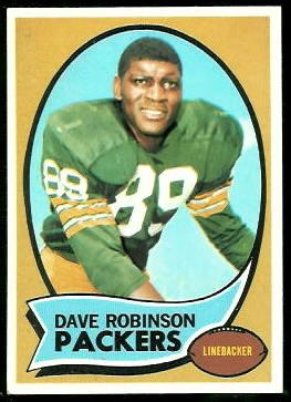 Dave Robinson 1970 Topps football card
