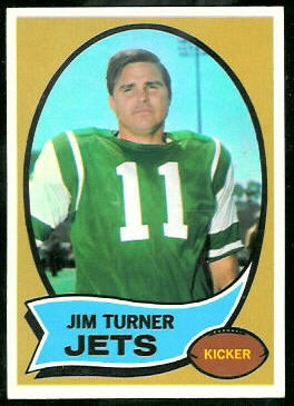 Jim Turner 1970 Topps football card