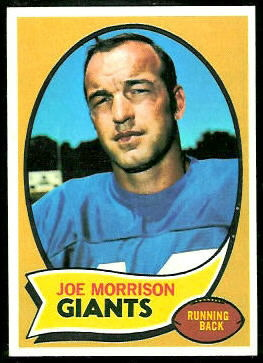 Joe Morrison 1970 Topps football card