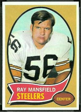 Ray Mansfield 1970 Topps football card