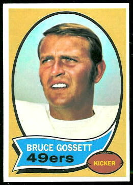 Bruce Gossett 1970 Topps football card
