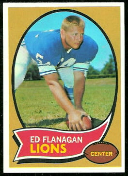 Ed Flanagan 1970 Topps football card