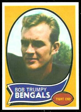 Bob Trumpy 1970 Topps football card