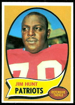Jim Hunt 1970 Topps football card