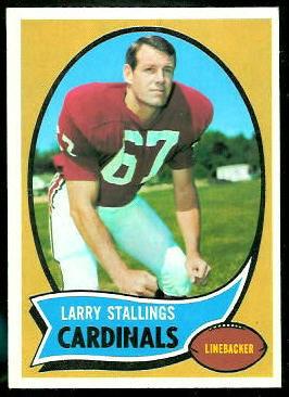 Larry Stallings 1970 Topps football card