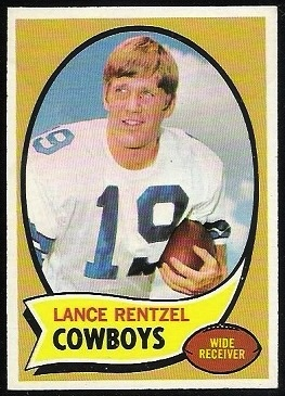Lance Rentzel 1970 Topps football card