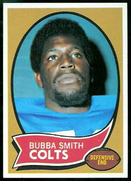 Bubba Smith 1970 Topps football card