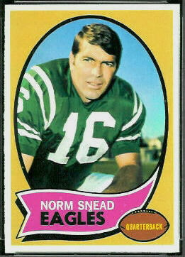 Norm Snead 1970 Topps football card