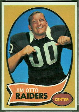 Jim Otto 1970 Topps football card