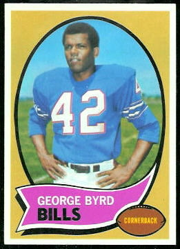 George Byrd 1970 Topps football card