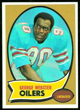 George Webster 1970 Topps football card