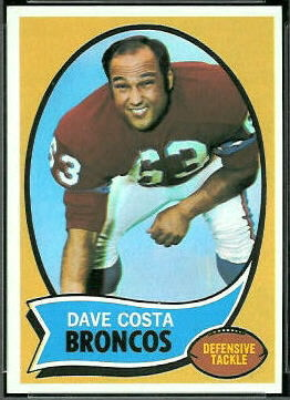 Dave Costa 1970 Topps football card