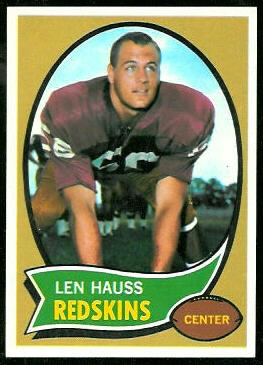 Len Hauss 1970 Topps football card
