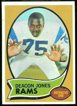 Deacon Jones 1970 Topps football card