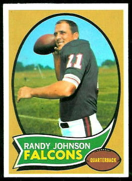 Randy Johnson 1970 Topps football card