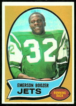Emerson Boozer 1970 Topps football card
