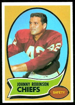 Johnny Robinson 1970 Topps football card