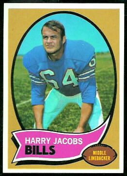 Harry Jacobs 1970 Topps football card