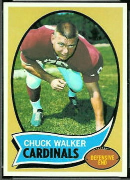 Chuck Walker 1970 Topps football card