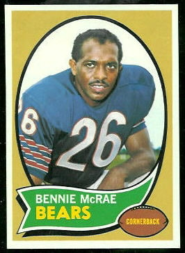 Bennie McRae 1970 Topps football card