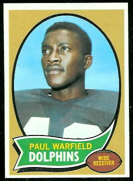 Paul Warfield 1970 Topps football card