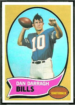 Dan Darragh 1970 Topps football card