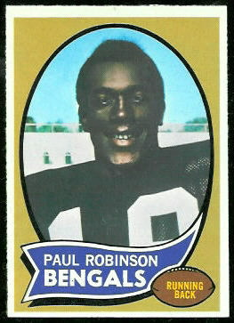 Paul Robinson 1970 Topps football card