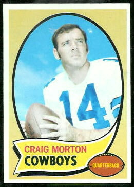 Craig Morton 1970 Topps football card
