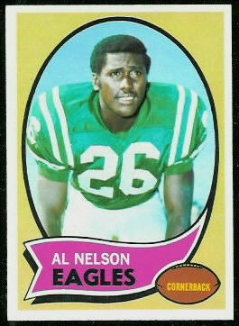 Al Nelson 1970 Topps football card