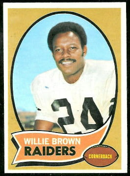 Willie Brown 1970 Topps football card