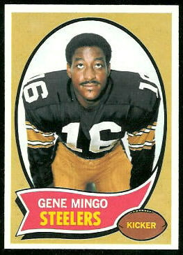 Gene Mingo 1970 Topps football card