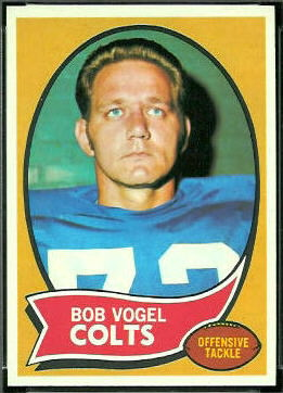 Bob Vogel 1970 Topps football card