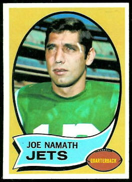 Joe Namath 1970 Topps football card