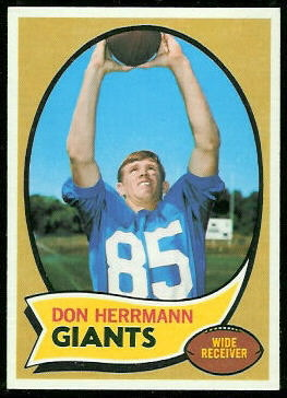 Don Herrmann 1970 Topps football card