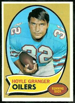 Hoyle Granger 1970 Topps football card
