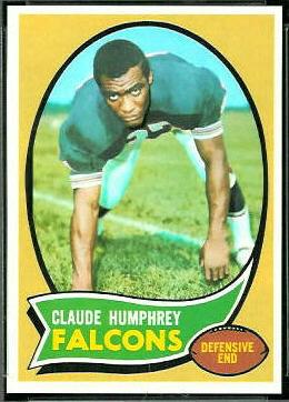 Claude Humphrey 1970 Topps football card