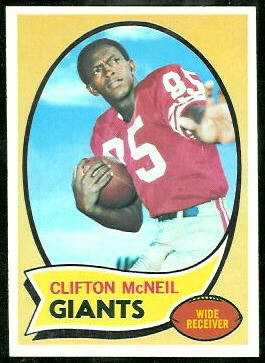 Clifton McNeil 1970 Topps football card