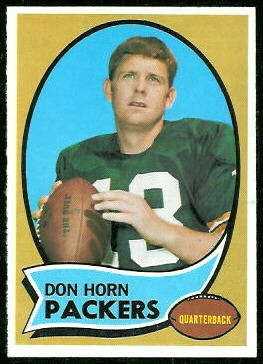 Don Horn 1970 Topps football card